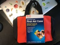 Build Your Own First Aid Kit Case Zippered Bag w/Pockets