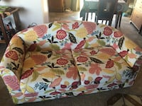 floral fabric sofa loveseat multi great for girls room!