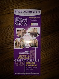 FREE admission to the women's show