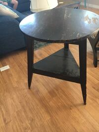 round black wooden side table Newport Beach, 92660