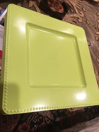 9 Green Plates Good Condition  Irvine, 92602