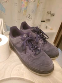 blue nike air force 1 suede Shoes size 10