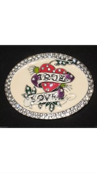 Ed Hardy Belt Buckle with Rhinestones
