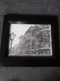charcoal sketch of building with black wooden frame Covington, 30016