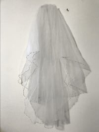 New White Wedding Veils Cathedral Bridal Veil Simple with Comb 36 Los Angeles, 91606