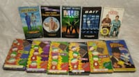 11 Comedy VHS Tapes Including South Park/Happy Gil