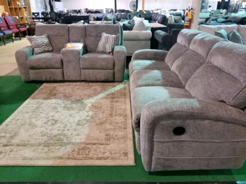 Reclining couch and love seat set  44f988d2-3051-4271-be6e-a3124d198725