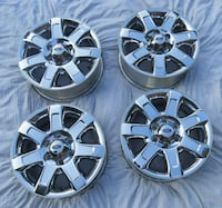 Set of Ford OEM F150 Chrome wheels for  [TL_HIDDEN] .  Excellent condition Rockville