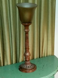 Old Fashion Lamp with Golden Color Glass Shade