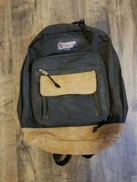 SPORTS PLUS LEATHER BOTTOM BACKPACK $10