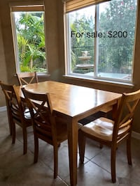 rectangular brown wooden table with six chairs dining set 2257 mi