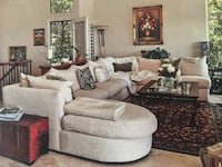 Large Sectional Sofa by Kreiss, down filled Canyon Lake, 92587