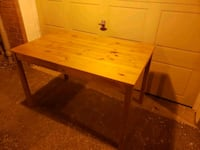 Wood table for kitchen