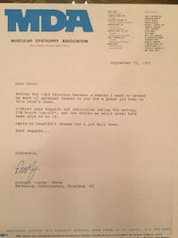 Muscular Dystrophy Association- collectible letter  Las Vegas, 89138