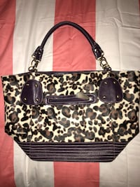 Purple and leopard print purse  Kingston, K7L 1B9