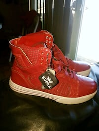 Red Supra High Tops