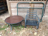 Outside table and chair frame