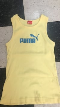 Yellow puma tank top with blue print Vernon, V1T