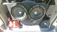 two black-and-gray subwoofers Sacramento, 95842