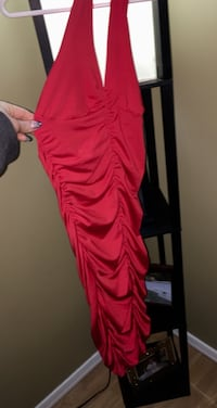 """""""Dereon"""" Ladies Red Dress Brand new tags attached size small SUPER stretchy with flattering Rouching  Edmonton, T5A"""