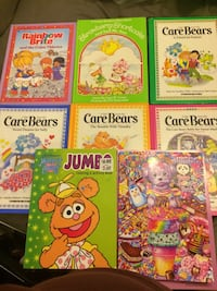 Vintage Books Carebears /rainbow brite/Strawberry shortcake Selling as a Lot price