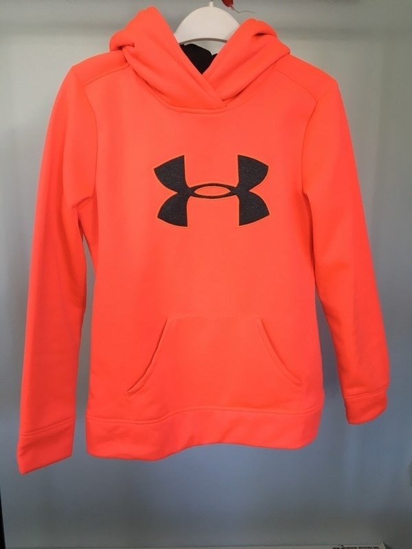 red Under Armour pullover hoodie