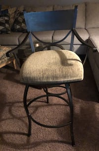 """Black iron with upholstered seat Barstool 28"""" Cottonwood Heights, 84121"""