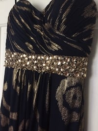 Navy and gold prom dress Brownsburg, 46112