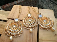 two gold-colored and white beaded decors Brampton, L6R