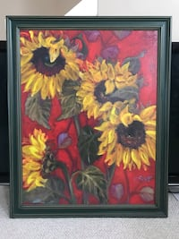 Framed Sunflower Painting Gaithersburg, 20878