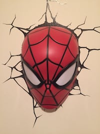 Spider-Man wall lamp artwork Montréal, H8T 3C1
