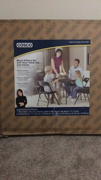 COSCO black 5-piece set table and chairs Riverview, 33578
