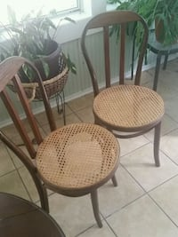 Pair of antique wicker bottom chairs Goose Creek, 29445