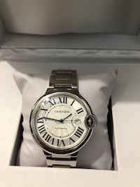 round silver-colored chronograph watch with link bracelet Hialeah, 33018