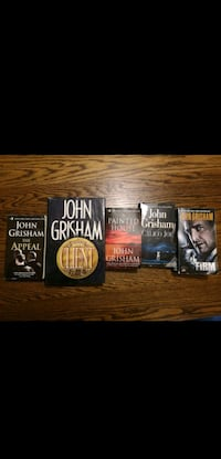 four assorted-title books 542 km