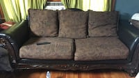 brown and black floral fabric 3-seat sofa Blakely, 18452