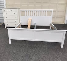 IKEA Hemnes King size bed & chest