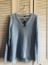 Womens light blue sparkle Sweater Woodbridge, 22193