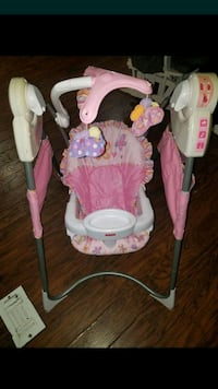 baby's pink and white swing chair Stockton, 95207