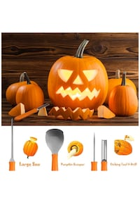 Pumpkin carving set with 10 design patterns  Boston, 02126