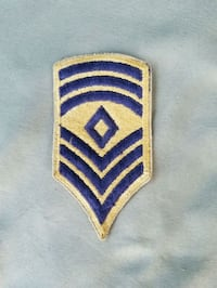 Vintage US Army First Sergeant Patch Evansville, 47720