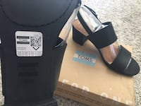 Toms Poppy black leather sandals. Brand new. Never worn. Size 9.5 Silver Spring, 20910