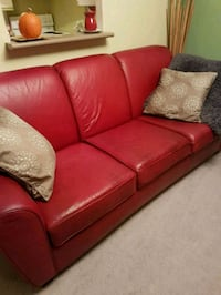 leather red couch Barrie
