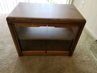 Real wooden cabinet with wheels Falls Church