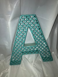 Teal metal a freestanding letter Virginia Beach, 23455