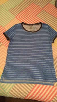 blue and gray striped crew-neck shirt Chico, 95928