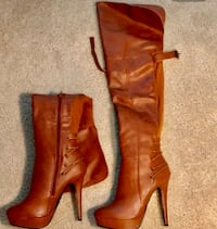 pair of brown leather boots Laurel, 20707