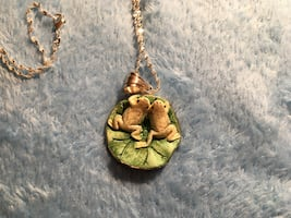 925 frog necklace