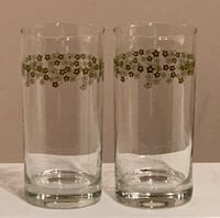 Set of 2 Corelle Drinking Glasses—Spring Blossom / Crazy Daisy Vienna, 22180