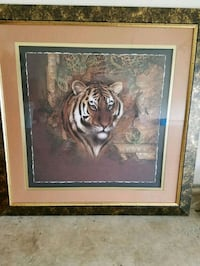 Huge 4 × 4 Lion Painting with frame  Katy, 77449
